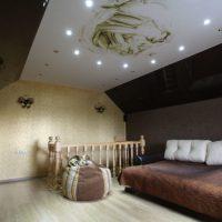 натяжные потолки в спальне фото 32