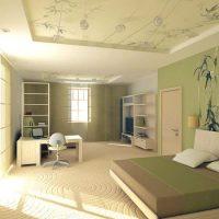 натяжные потолки в спальне фото 39