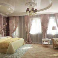 натяжные потолки в спальне фото 45