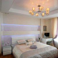 натяжные потолки в спальне фото 50