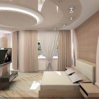 натяжные потолки в спальне фото 65