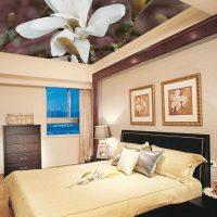 натяжные потолки в спальне фото 68