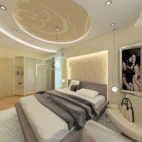 натяжные потолки в спальне фото 69