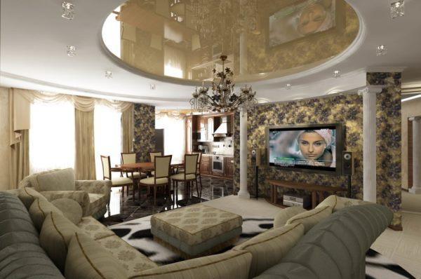 планировка гостиной фото 15