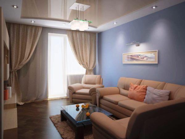 планировка гостиной фото 18