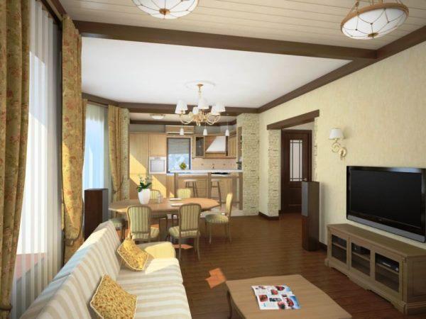 планировка гостиной фото 19