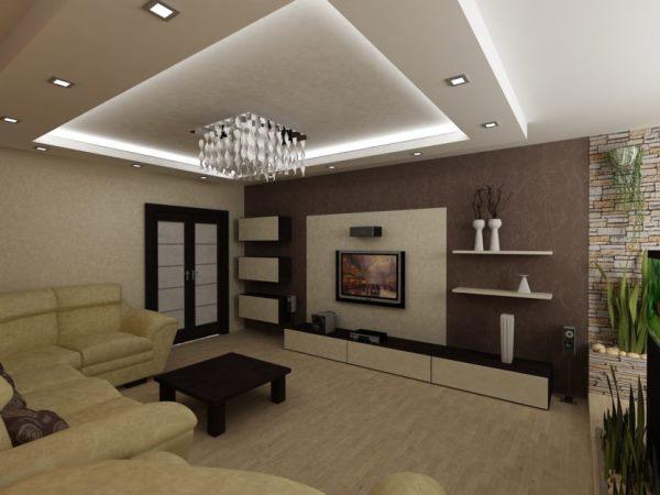 планировка гостиной фото 7