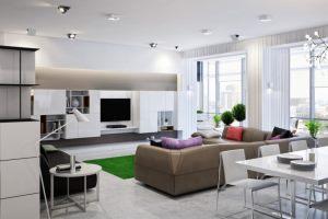 планировка гостиной