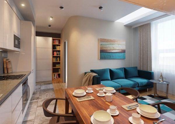 Зонирование однокомнатной квартиры 40 кв м фото