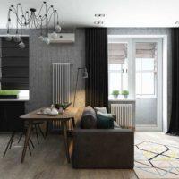 дизайн 1-комнатной квартиры 40 кв м фото 2