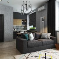 дизайн 1-комнатной квартиры 40 кв м фото 3