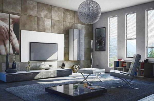 дизайн зала в стиле минимализм фото