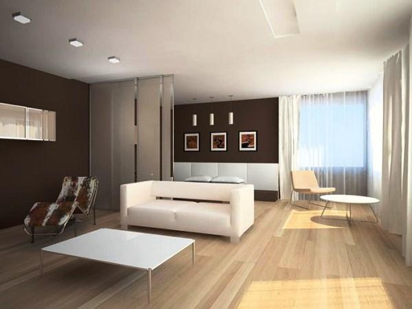 гостиная в стиле минимализм фото 16