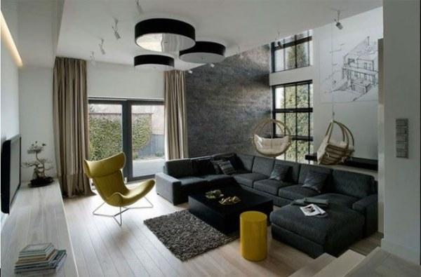 гостиная в стиле минимализм фото 21