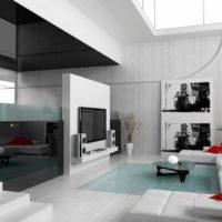 интерьер гостиной в стиле минимализм фото 10