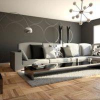 интерьер гостиной в стиле минимализм фото 14