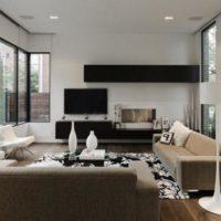интерьер гостиной в стиле минимализм фото 42