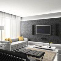 интерьер гостиной в стиле минимализм фото 5