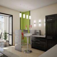 интерьер кухни с балконом фото 11