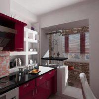 интерьер кухни с балконом фото 18