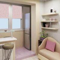интерьер кухни с балконом фото 21