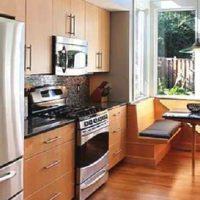 интерьер кухни с балконом фото 22