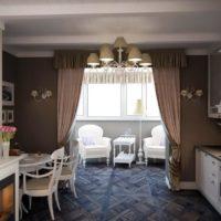 интерьер кухни с балконом фото 24