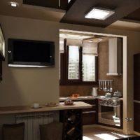 интерьер кухни с балконом фото 26