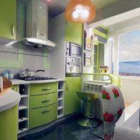 интерьер кухни с балконом фото 27