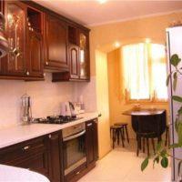 интерьер кухни с балконом фото 28