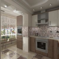 интерьер кухни с балконом фото 29