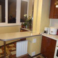 интерьер кухни с балконом фото 3