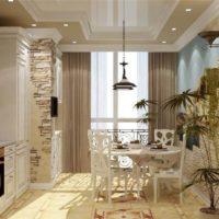 интерьер кухни с балконом фото 30