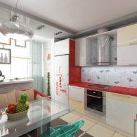 интерьер кухни с балконом фото 34