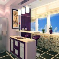 интерьер кухни с балконом фото 38