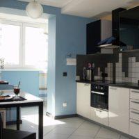 интерьер кухни с балконом фото 39