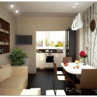 интерьер кухни с балконом фото 4
