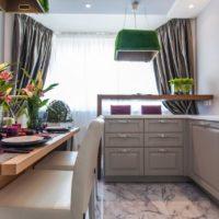 интерьер кухни с балконом фото 42