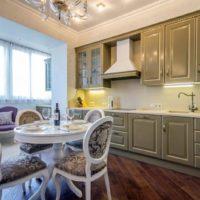 интерьер кухни с балконом фото 50