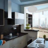 интерьер кухни с балконом фото 51