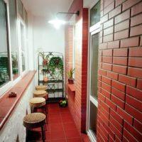 интерьер кухни с балконом фото 58