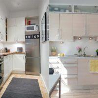 интерьер кухни с балконом фото 59