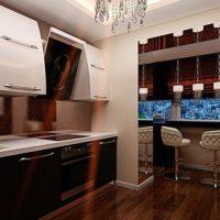 интерьер кухни с балконом фото 9