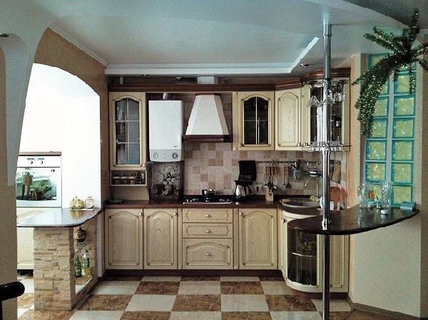 балкон совмещенный с кухней фото