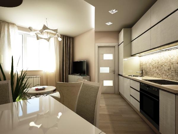 кухня объединенная с балконом фото дизайн