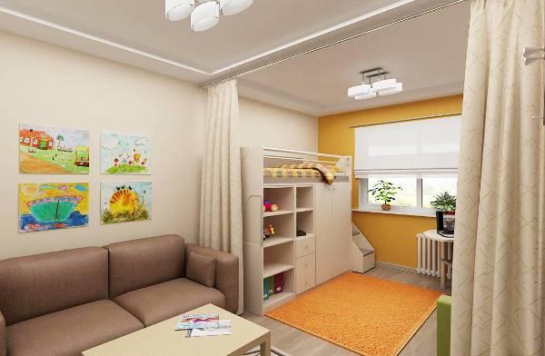 спальня и детская в одной комнате фото 11