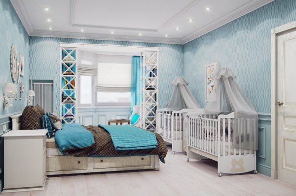спальня и детская в одной комнате фото 15