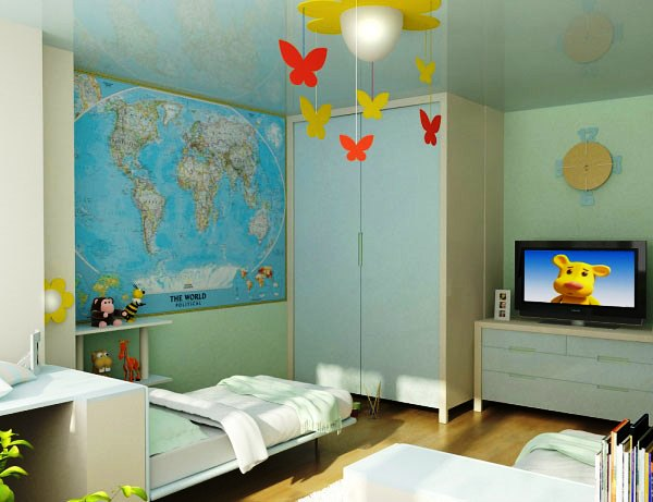 дизайн комнаты для родителей и ребенка фото