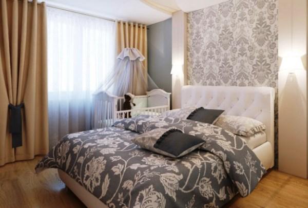 спальня и детская в одной комнате фото 7