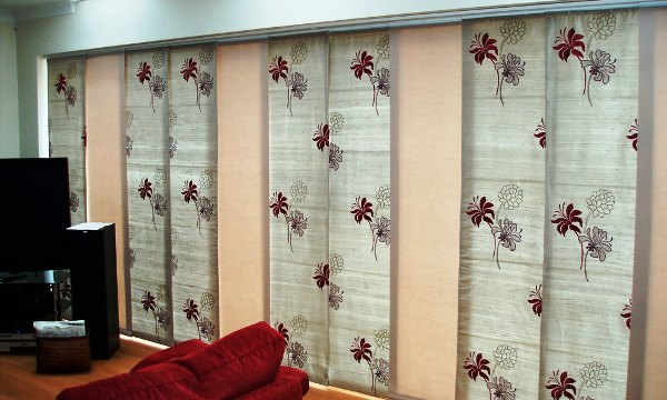 японские шторы фото 6